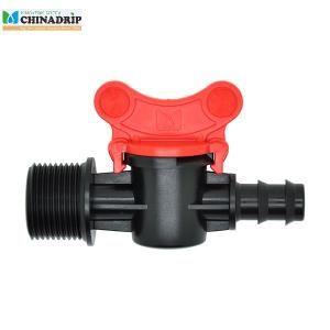 barb thread mini valve connector for LDPE pipe