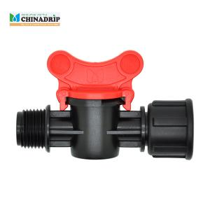 male female thread mini valve connector for LDPE pipe